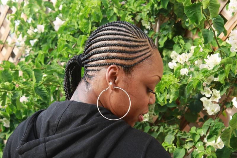 Cornrowed Ponytail
