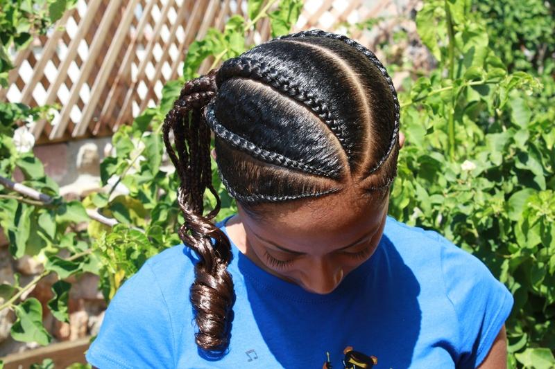 Flat Braid Ponytail