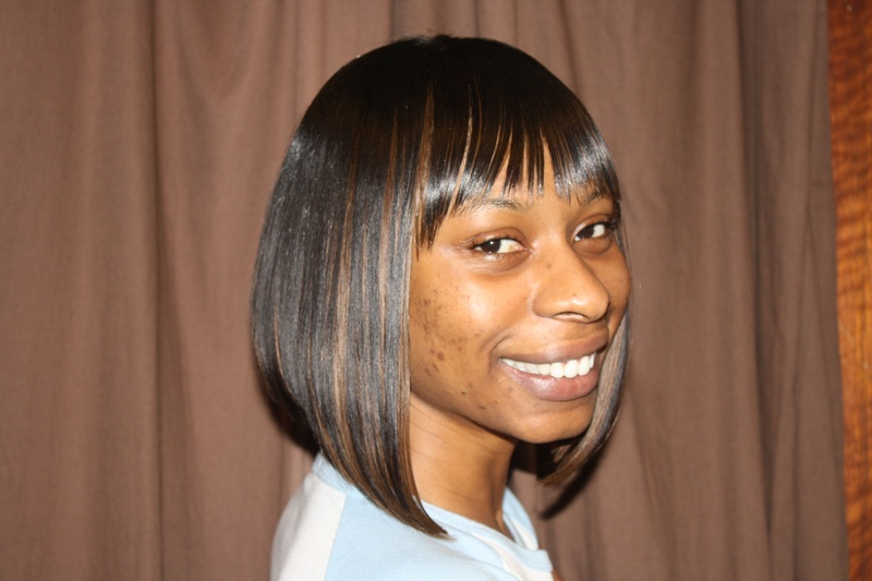 Sewn Weave - Bob Cut and Bangs